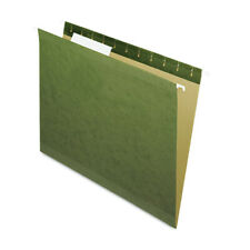Pendaflex 04152 13 Hanging File Folders 13 Tab Letter Green 25box New