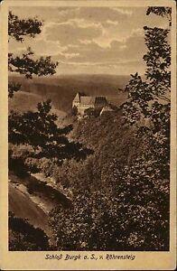 BURGK-AK-um-1920-Schloss-Castle-Roehrensteig-Fernansicht-alte-Postkarte-Thueringen