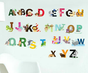 26-Alphabets-Animals-Wall-Decal-Removable-Stickers-Kids-Baby-Art-Mural-Decor-AU
