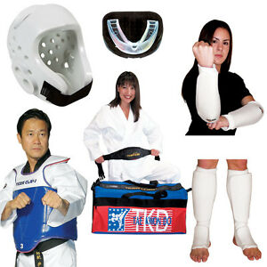 Pink Karate Tae Kwon Do Sparring Gear Set with Headgear Hand Foot Pads