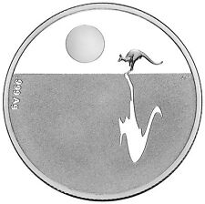 2011 Australia Kangaroo at Sunset $1 Silver Proof Coin, 6.03gm, Cert. 004972