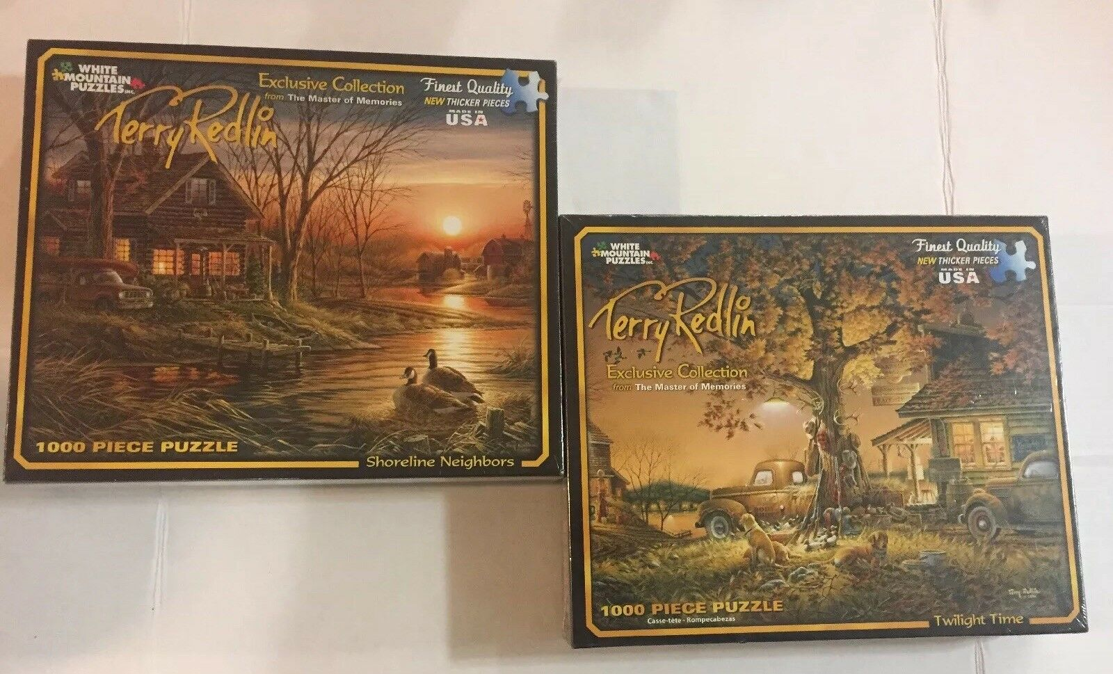 New sealed 2 White Mountain Puzzles Terry Redlin 1000 Pieces it 174