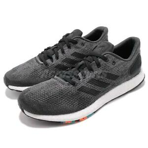 8972c89499c1c Image is loading adidas-PureBOOST-DPR-Black-Grey-Mens-Running-Shoes-