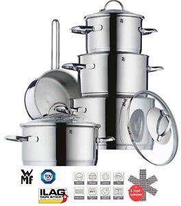 WMF-Transtherm-Edelstahl-Topfset-9-tlg-Induktion-Toepfe-Topf-Set-Kochen-Deckel