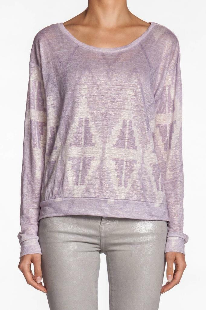 Townsen Sparkle Diamond Long Sleeve Sweater LILAC light lila Rosa Weiß New