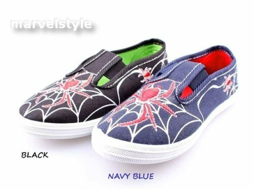 BOYS KIDS TODDLERS TRAINERS SNEAKERS GYM SHOES UK size 10-12.5 //EU 28-31 SPIDERS
