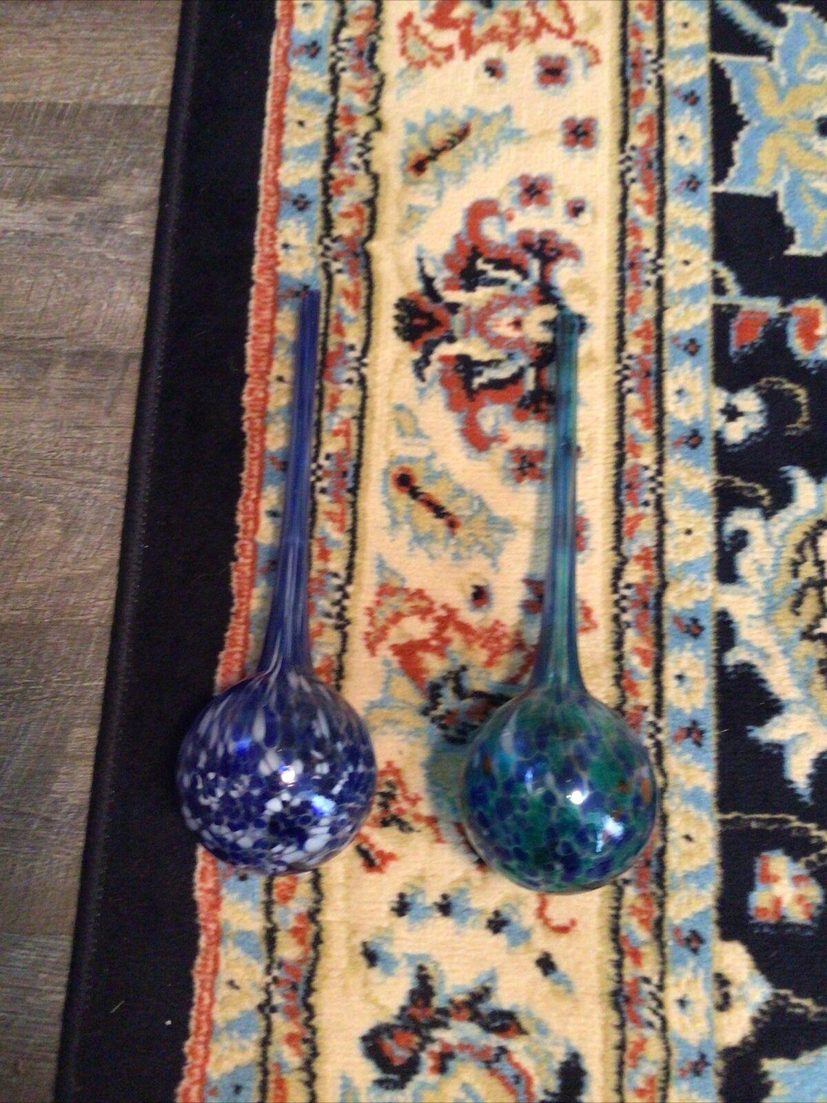 Pair of Glass Watering Bulbs