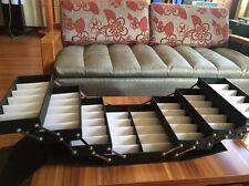 48 Pairs Foldable Multicase Sunglass Eyeglasses Suitcase Display Case Pu Leather