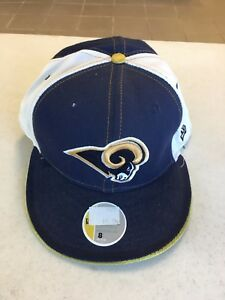 hot sale online d45cb 0aefc Image is loading ST-LOUIS-RAMS-NAVY-FRONT-RETRO-5950-NEW-