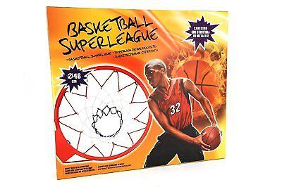 Canestro In Metallo Da Basket Con Rete Con Diametro 46 Cm Globo