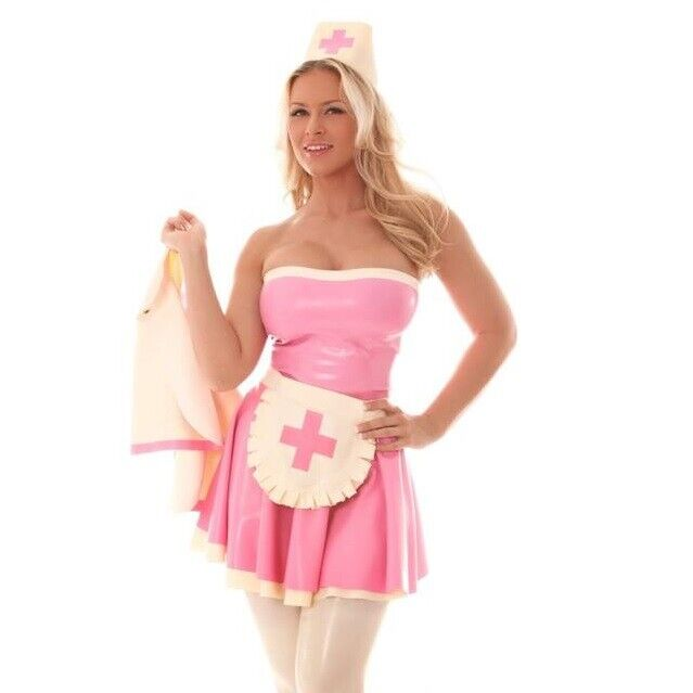 Skin Two Clothing Women's Nurse Dress & Cap Kinky BDSM