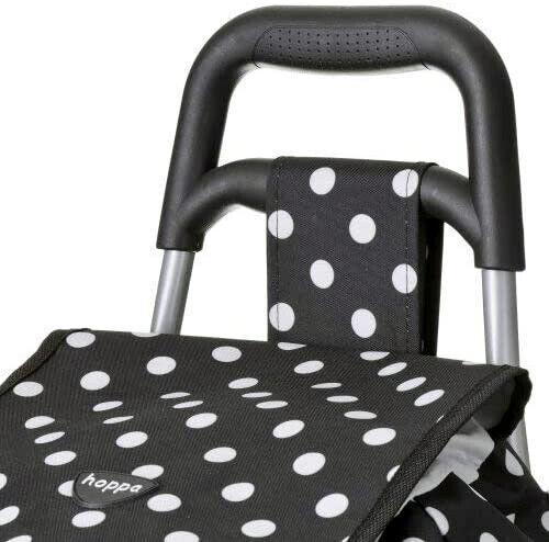 Hoppa Large 47 Litre Capacity Lightweight 2 Wheel Shopping Trolley Bag Cart Fold