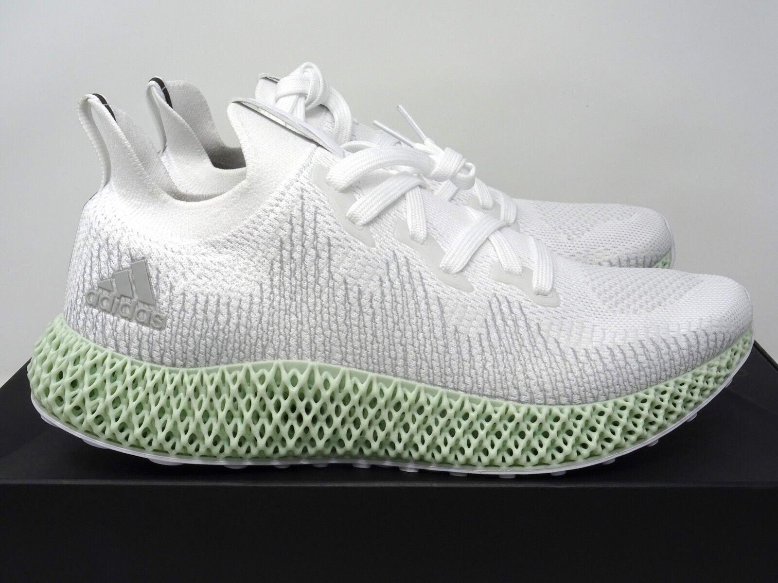 Adidas AlphaEdge 4D Printed FutureCraft White Green UK 5 8 9 11 12 US
