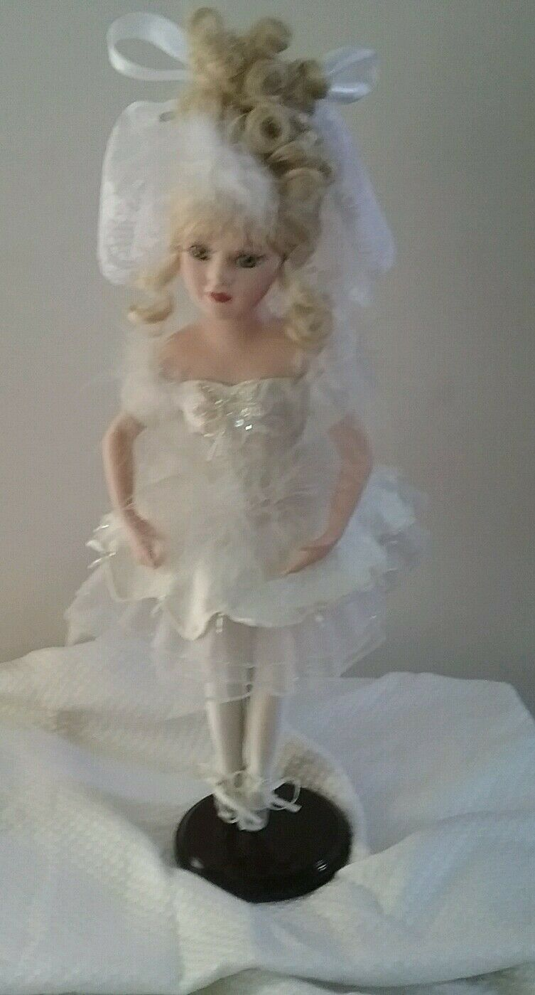 Brass Key, Inc Victorian Collection Swan Lake Ballerina Porcelain Girl Doll Toys
