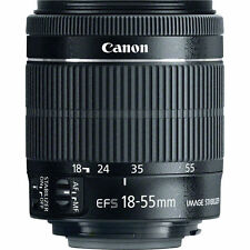18-55mm NEW Canon EF-S 18-55 mm F/3.5-5.6 STM IS Lens f/ Rebel white Box
