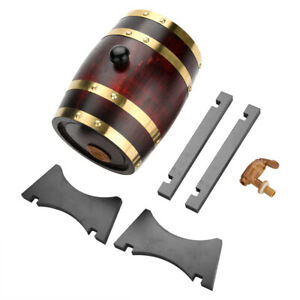 1-5-3L-Wood-Oak-Timber-Wine-Barrel-For-Beer-Whiskey-Rum-Port-Keg-w-Oak-Stand-US