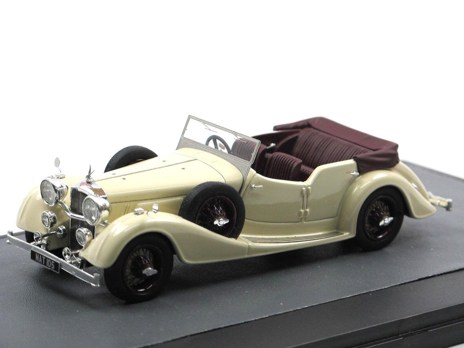 Matrix scale models 1938 Alvis 4.3 litre Cross & Ellis Tourer blanco 1 43