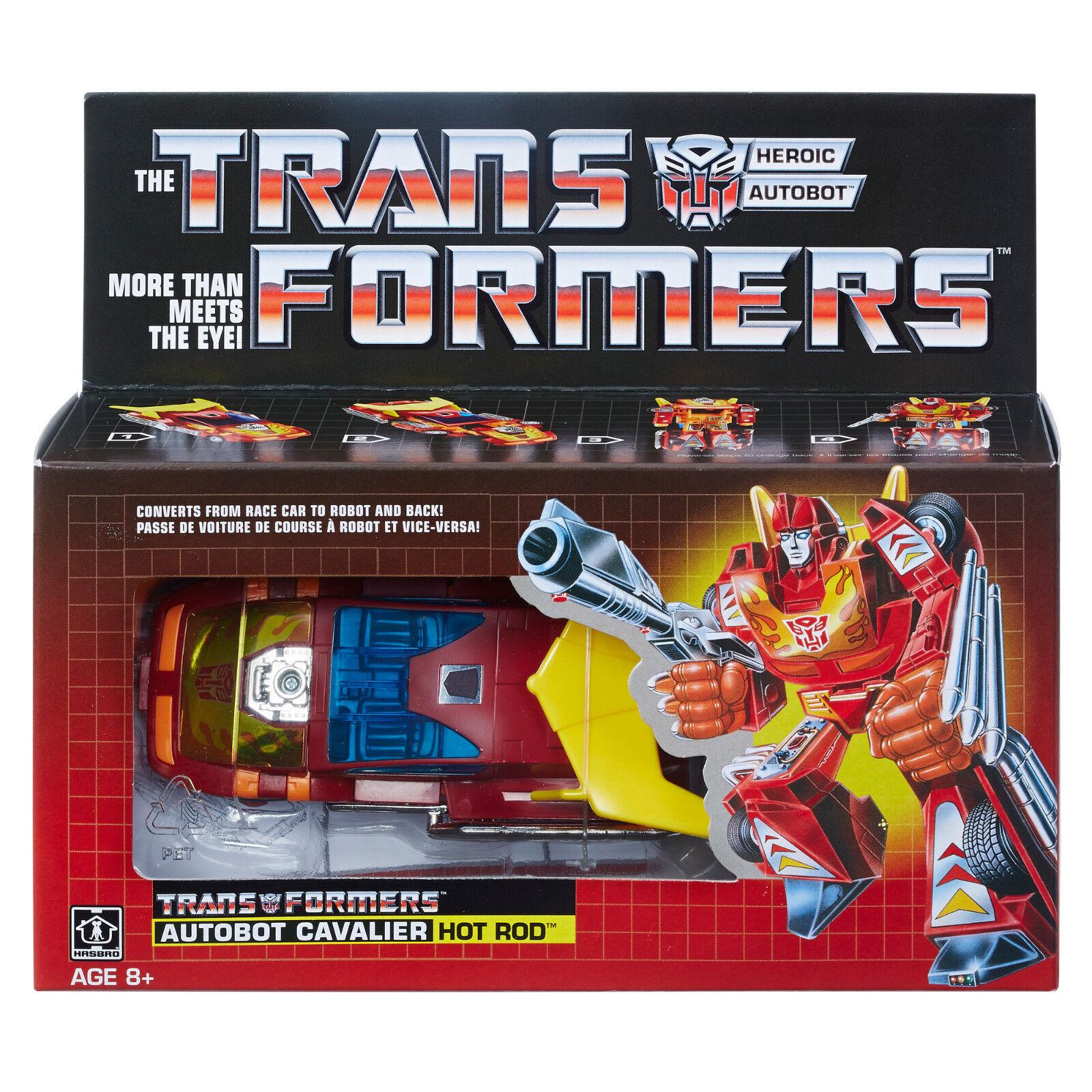 Hasbro Transformers Vintage G1 Autobot Hot Rod Walmart Exclusive Reissue Figure