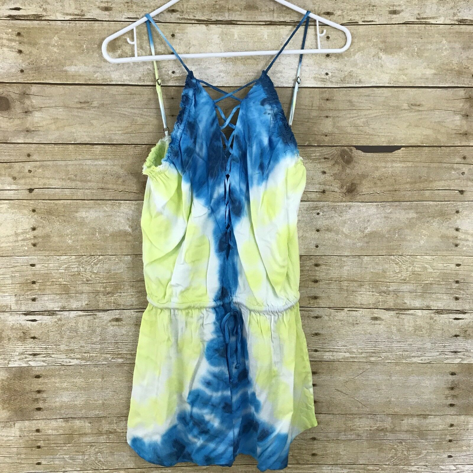 NEW  Young Fabulous & Broke  Ombre Lace Up Romper Jumper Size S YFB