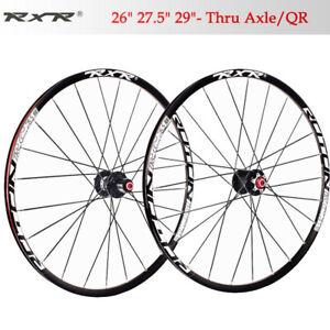 Mountain-bike-Carbon-hub-wheels-26-27-5-29-Front-Rear-wheelset-25mm-rim-Clincher