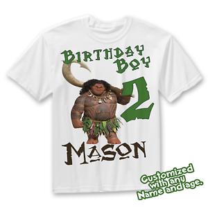 a3c1c58b Moana Maui Custom T-shirt, Maui and Moana birthday shirt, Family ...