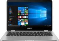 "Asus VivoBook Flip 14"" FHD Touchscreen 2-in-1 Convertible Laptop with Intel Core Celeron N4020 / 4GB RAM / 64GB eMMC / Windows 10 S"