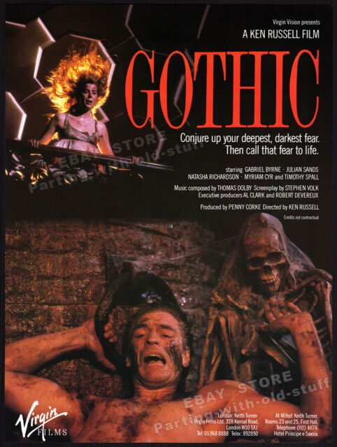 GOTHIC__Original 1986 Trade print AD film promo_poster__KEN RUSSELL_Mary Shelley