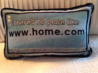 There's No Place Like Www(.) Home(.)com Home 8x13 Cotton Tapestry Pillow