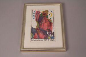 Other Art Art Plehl Abstrakt Gerahmt Holzrahmen Moderate Price Der Traumtänzer Druck Kunstdruck 1989 H F