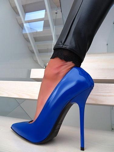 in vendita 1969 Pumps 14 cm Sexy Anouk blu blu blu blu blu fetish sky high heels 43 44 nib  migliore marca