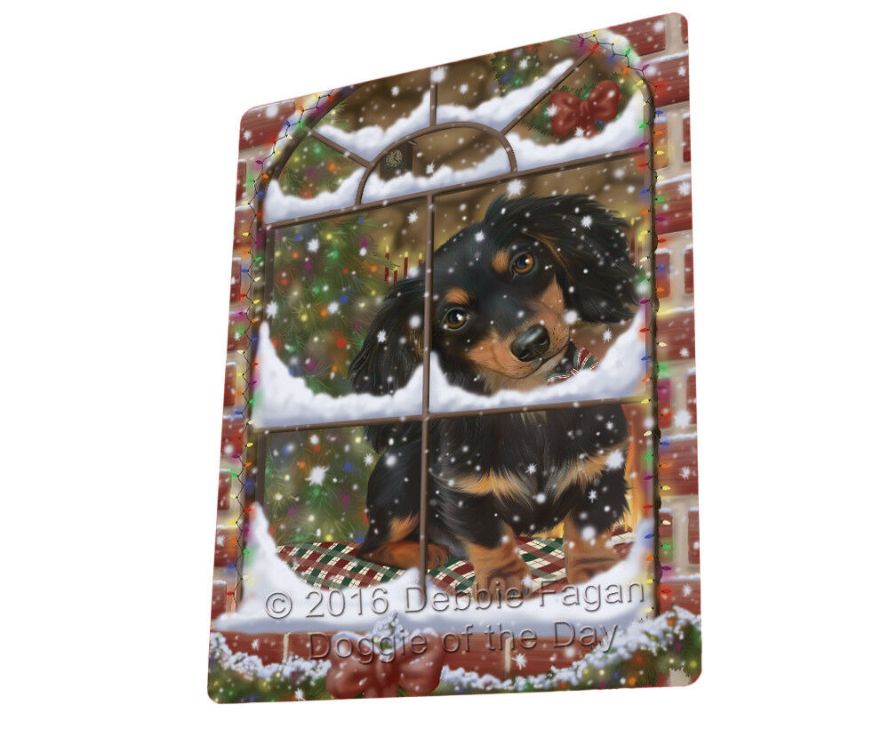 Please Come Home For Christmas Dachshund Dog Sitting Window Blanket BLNKT54003