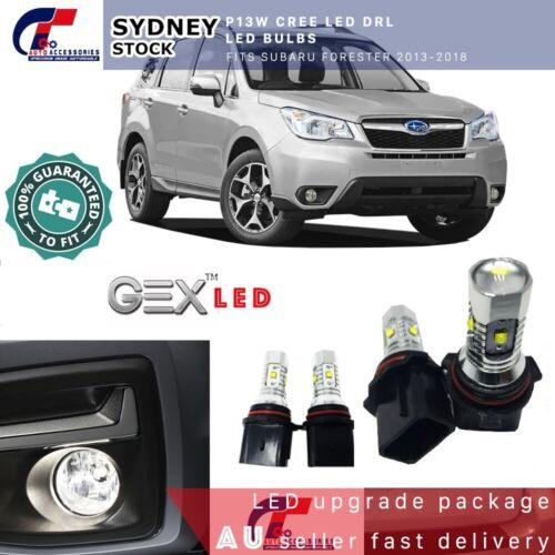 P13W CREE LED DRL 6000K Led Bulbs Fits Subaru Forester 2013-2018