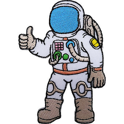 Astronaut Patch Iron / Sew On Embroidered Spaceman Space Suit NASA T Shirt Badge