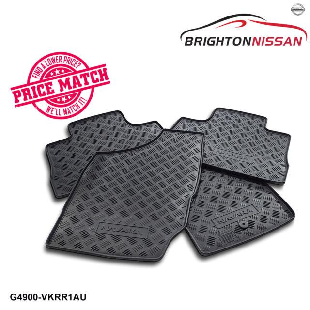 New Genuine Nissan Navara D22 Rubber Floor Mats Set of 4 G4900-VKRR1AU/VKFR1AU