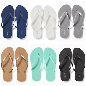 9209a7615 NWT Old Navy Classic Flip Flops Women Blue White Silver Gold Black 5 ...
