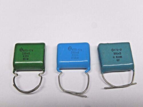 K73-17 Lot of 20 NOS. 0.33uF 630V PETP Capacitors