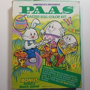 Vintage-PAAS-Easter-Egg-Color-Kit-New-Unopened-80s-90s-Graphics-Decor-USA