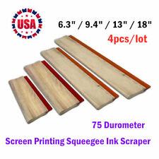 4pcs 63 94 13 18 Screen Printing Squeegee Ink Scraper 75 Durometer