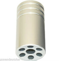 Ruger 10/22 Muzzle Brake Compensator Threaded 1/2-28 Tpi 1022 Silver