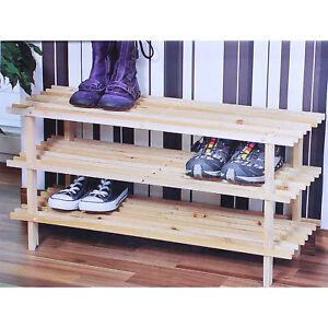 Kesper-Holz-Schuhregal-3-Ebenen-fuer-ca-9-Paar-Schuhe-Schuhschrank-Regal