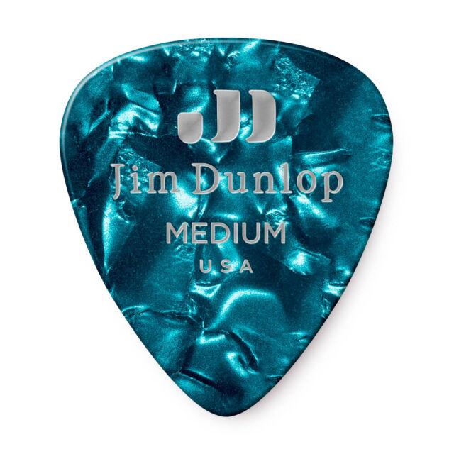 Dunlop Guitar Picks  12 Pack  Celluloid  Abalone  Thin