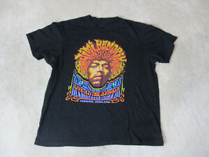 Jimi-Hendrix-Live-At-Astoria-Concert-Shirt-Adult-Small-Black-Band-Tour-Rock-Mens