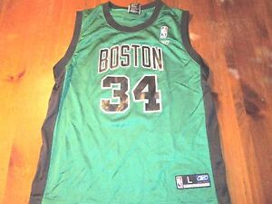 hot sales b67be 6acea Details about VINTAGE REEBOK NBA BOSTON CELTICS PAUL PIERCE ALTERNATE  JERSEY SIZE YOUTH L