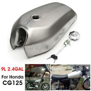 9L-2-4Gallon-Unpainted-Motorcycle-Fuel-Gas-Tank-Petrol-Cap-For-Honda-CG125-AA001