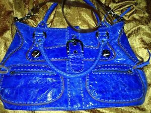 8c4783aea Image is loading Carla-Marcini-Electric-Blue-Top-Quality-Handmade-Italian-