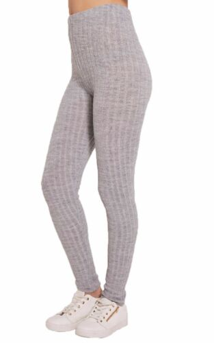 NEW WOMEN/'S LADIES CHUNKY CABLE KNITTED PATTERN THICK WOOL WARM LEGGINGS