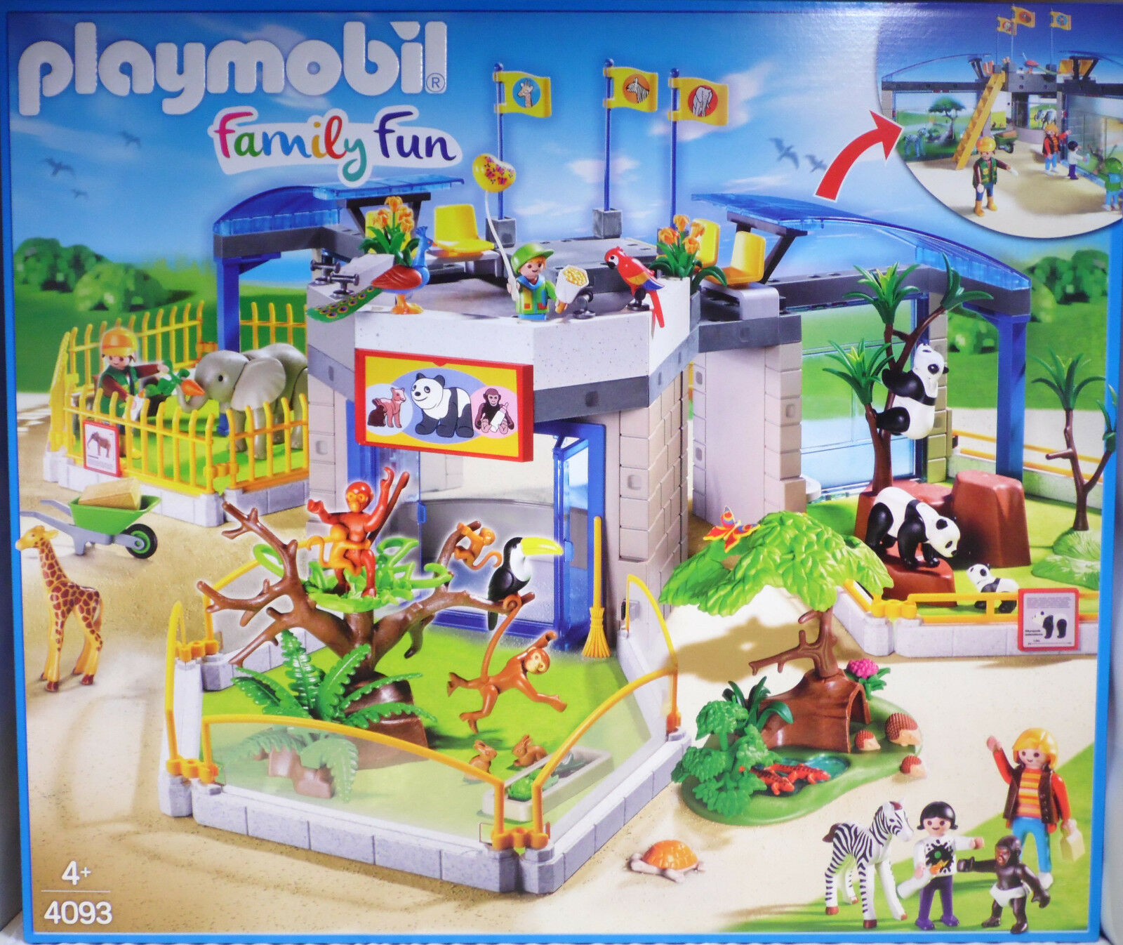 Playmobil 4093 Tierbaby-Zoo Tierpark Zebra Panda Affen Giraffe Pfau Tukan NEU