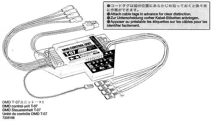 TAMIYA DMD unità di controllo t-07 7255166 Leopard 2a6 56020