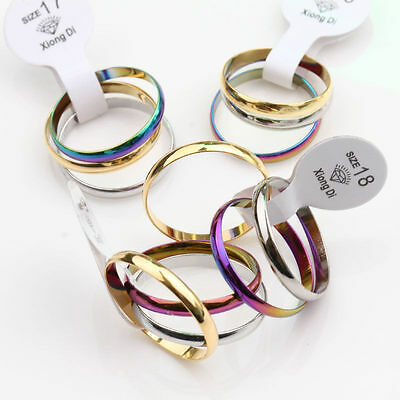 12PCS Unisex Mixed Aluminum Alloy Rings Knuckle Ring Band Thin Ring 15-19mm