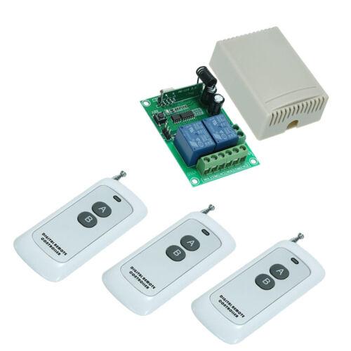 DC12V 2-Channels Wireless Remote Control Lighting Relay Switch 12v 1000m